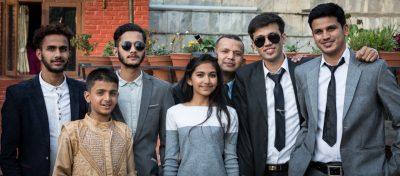 Kathmandu young adults at temple