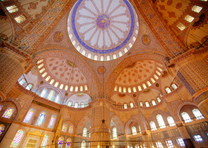 Blue Mosque, Sultan Ahmed, Istanbul, Turkey