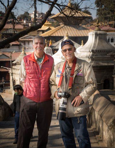 Rich Wilson and Joe Watson at Hindu temple complex.