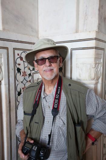 Joe inside the Taj